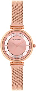 Giordano Analog Rose Gold Dial Women's Watch