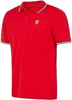 Scuderia Ferrari Men's Formula 1 Authentic Men's Red Tri-Color Polo