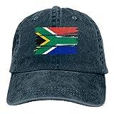 Générique Hommes Femmes Réglable Vintage Jeans Casquettes De Baseball Drapeau Sud-Africain Hiphop Cap