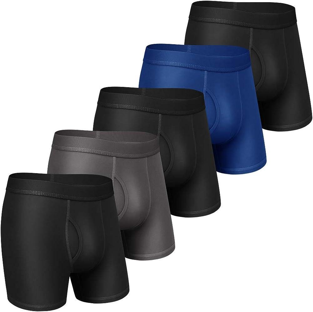 Dream Catcher Mens Underwear Boxer Briefs Cotton Boxer Briefs Underwear Men Pack Open Fly S-2XL