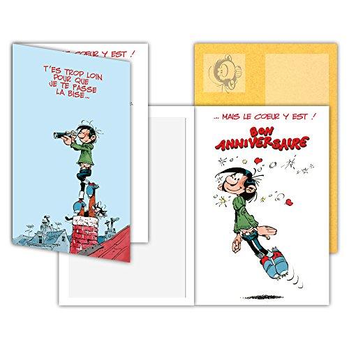 Gaston Lagaffe GLCT-0107 verjaardagskaart met hartjes van kussens