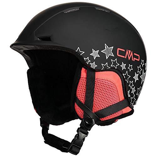 Cmp Casco Da Sci E Snowboard Xj-4, Unisex Bambini, Nero, S, Nero
