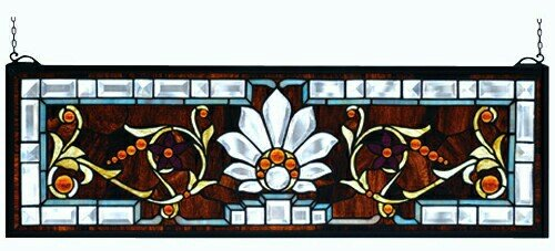 Beveled Ellsinore Transom Stained Glass Window