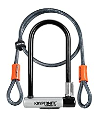 "12.7mm Hardended Performance Steel Shackle Resists Hand Tools, Bolt Cutters, and Leverage Attacks; 10mm Steel Looped Cable For Additional Security Interior Locking Dimensions; 4"" x 9"" Cable Length; 4"" Key Safe Program; Kryptonite will ship your first..."
