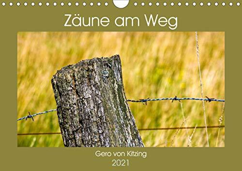 Zäune am Weg (Wandkalender 2021 DIN A4 quer)