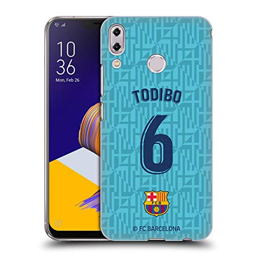 Officiële FC Barcelona Jean-Chair Todibo 2019/20 Players Third Kit Group 2 Hard Back Case Compatibel voor Asus Zenfone 5z ZS620KL / 5 ZE620KL