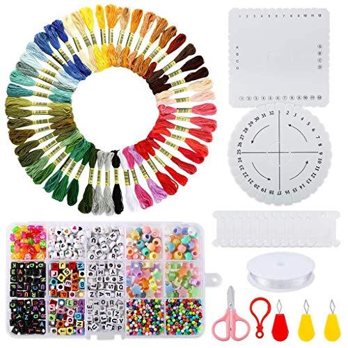 junengSO Puzzle Jigsaw, Kit de fabricación de Joyas con Abalorios, encantos, alicates, Alambre de Abalorios para Collar