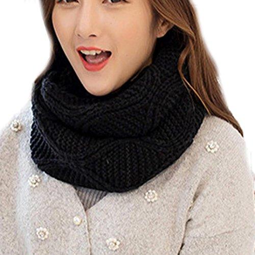 QinMM Bufanda Cuello de Cuello de Punto para Mujer, uso múltiple Snood caliente del color sólido Scarf