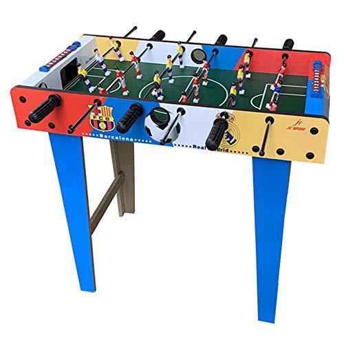 Table Soccer Houten Voetbal Tafel Fun Football Toy Set 27 '' aanrecht met 6 Joysticks Gebruikt voor Family Entertainment, Ouder-kind interactie, lichamelijke en geestelijke oefening