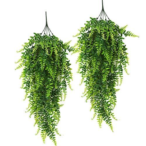 RECUTMS 2pcs Piante artificiali appese piante pendenti piante da parete artificiali da interno Hanging per Interni ed Esterni per Decorazioni Sospensione Esterno Interno