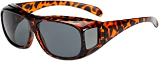 ZEVONDA Wear Over Sunglasses for Men Women - UV400 Polarised Sunglasses Night Driving Glasses Fit Over Prescription Glasses