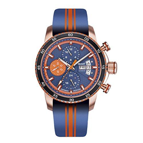 Ingersoll Herren Analog Automatik Uhr mit Leder Armband IN1717RG