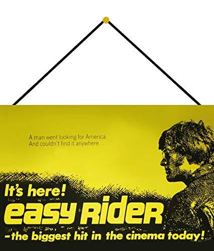 Blechschild Avec cordon de serrage 30 x 20 cm Cinema today ! Easy Rider - Blechemma