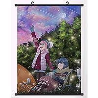 アニメポスター生地スクロール絵画壁絵壁スクロールハンギングポスター装飾クリスマスハロウィンギフトYuru Camp