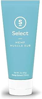 Select S Hemp Muscle Rub - Hemp Rub 3oz, 250m