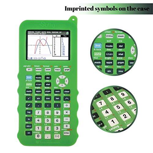 Silicone Case for Ti 84 Plus CE Calculator (Green) - Cover for Texas Instruments Ti-84 Graphing Calculator - Silicon Skin for Ti84 Plus - Protective & Anti-Scretch Cases - Ti 84 Accessories by Sully Photo #3