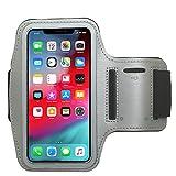 CBUS - Brazalete XL Deportivo para Footing, Jogging, Correr y Entrenar. Compatible con iPhone 12 Pro MAX/XR/XS MAX/8 Plus/7 Plus/6 Plus (Gris)