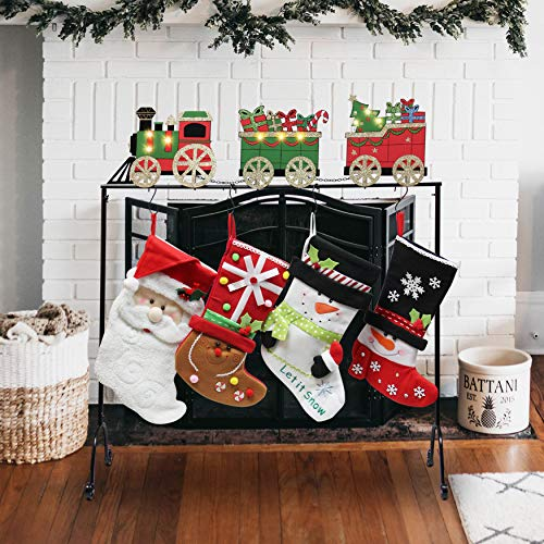 Christmas Stocking Holder Stand Hangers (Christmas Train)