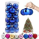 Bola de Navidad, 24 Piezas Bola de Árbol de Navidad Bola Navidad Plástico para...