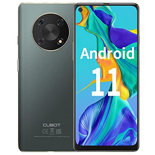 Smartphone Libre, CUBOT Max3 Android 11 Teléfono Móvil, Pantalla HD+ 6,95', Batería 5000 mAh, 4+64GB(TF 256GB), Cámara con 48MP y Modo Nocturno,Dual SIM 4G,Huella Digital,Face ID,NFC,OTG,Carga Inversa