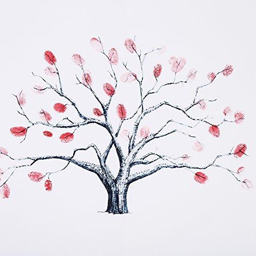 Yosoo 14 Tipos Impresión Digital de la Huella Digital/del árbol de Thumbprint Impresión Digital de la Boda de la Huella Digital de la Boda / (Style : #11)