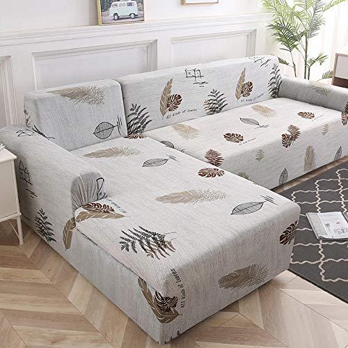 Cubierta Sofa Muebles con Cuerda de Fijación 4 plazas, Funda de sofá Funda de sofá Funda de sofá elástica para sala de estar, Esquina de mascotas Funda de sofá Chaise Longue en forma de L