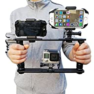 MEINUOKE Handheld Handle Grip Stabilizer - Underwater Dive Configuration Tray Mount for Gopro Hero Action Cameras / SJCAM / Smartphone / Microphone Bracket - Perfect for Video & Sea Diving Shooting