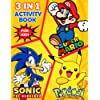 Pokémon Marió Sónic the Hedgehog Activity Book for Kids: Sónic Marió Pokémon Drawing and Coloring Book for Boys and Girls   Big Activities Book for Hours of Fun for Kids (Games & Puzzles)