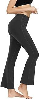 Women's Bootcut Yoga Pants with Pocket Stretch Tummy Control Workout Running Pants Straight Leg Dress Pants