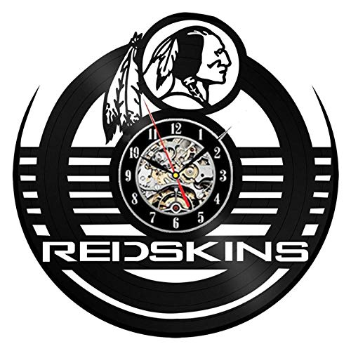 GenericBrands Wall Clock Vinyl Record Rugby team classic CD Quartz Clock Wall Art 3D Modern Design Office Bar Living Room Kitchen Home Decor Unique Gifts Handmade 12 inches - With 7LED lights