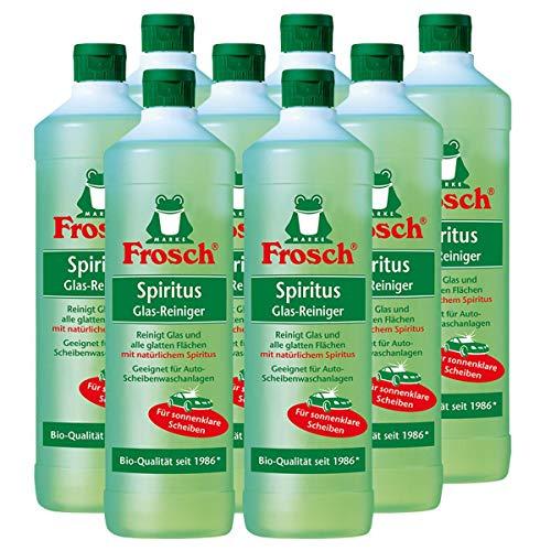 8x Frosch Spiritus Glas-Reiniger 1 Liter