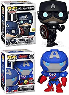 The First Avenger Funko Ultimate Pack: Funko Pop! Avengers Captain America Gamerverse Store Exclusive Glow In The Dark 62...