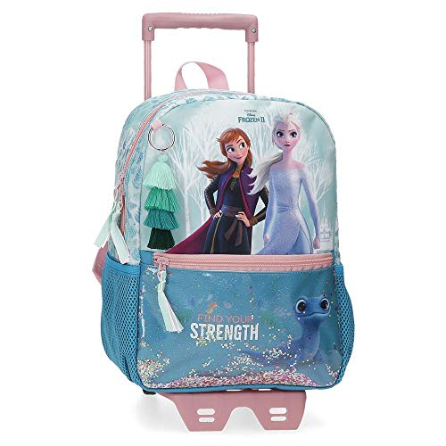 Frozen Mochila Find Your Strenght con Carro  25x32x12 cm  Azul