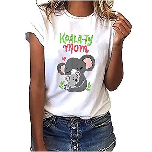 AMhomely Camiseta de mujer divertida con texto en inglés 'Perezoso' para trabajo y colega de oficina