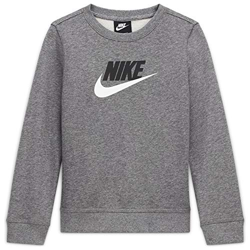 NIKE Sportswear Club Fleece, Sudadera Niños, Carbon Heather, L+