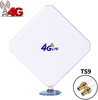 TS9 Connector Antenna 4G LTE Antenna 35DBi High Gain Network Booster Amplifier Omni Directional Antenna for WiFi Router Mobile Broadband Outdoor Signal Booster(with Suction Cup)