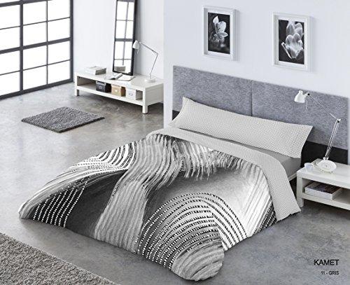 Catotex - Juego Funda nórdica KAMET. Cama 150 cm. Color Gris