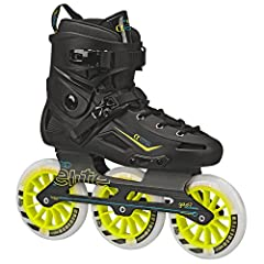 Recreational Fitness Inline Roller Skates Light Weight Hybrid Series Aluminum 3 wheel frame with quick change axles Bevo Race Rated-7 Speed Bearings World Record Racing US Made 125MM 85A Race Wheels Extra Supportive Molded Shell featuring Dual Buckle...