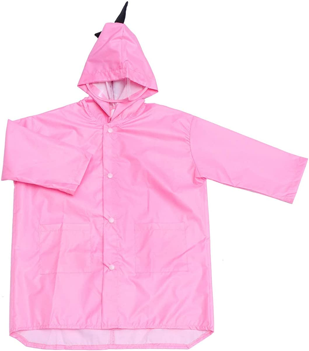 Wakauto Kids Raincoat Boys Waterproof 6-12,Unisex Kids Storm Break Waterproof Jacket,Boys Girls Rain Poncho Hooded Kids Waterproof Raincoat Breathable Raincoat