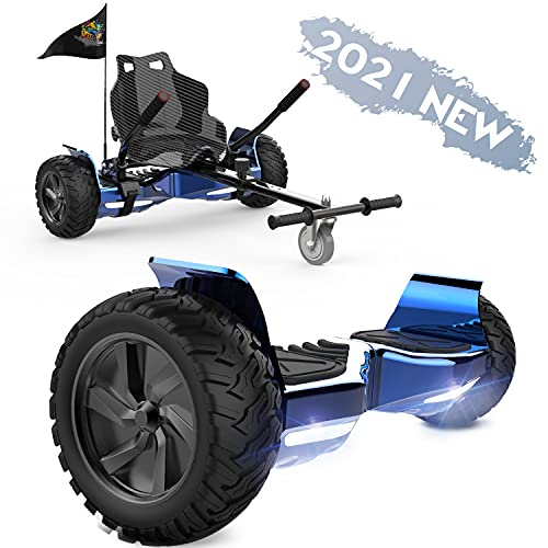 FUNDOT Hoverboards con Asiento, Hoverboards Todoterreno con Hoverkart, Patinete Eléctrico Autoequilibrado de...