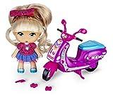 los Barriguitas - Scootie de Purpurina, Moto con 1 fmuñeca, para niños y niñas de 4 a 8...