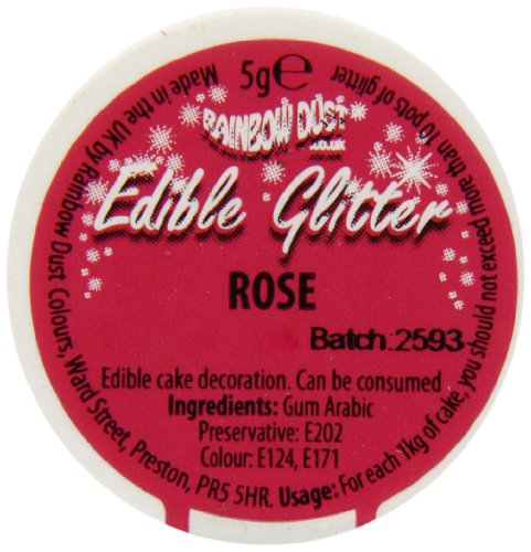 Rainbow Dust Edible Glitter - Rose - 5g