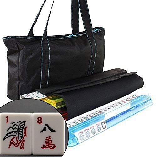 American Mahjong Set Waterproof Black Nylon Red Stitches Bag 4 Color Pushers / Racks Western Mahjongg Travel Set