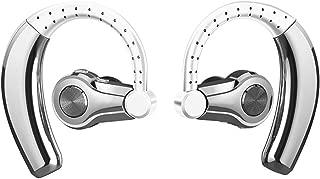 GLJJQMY Wireless Binaural Stereo Sports Music Bluetooth Headset 5.0 Long Standby TWS Bluetooth Earphone (Color : Silver)