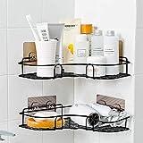 berhaya - Mensola angolare per doccia, con adesivo in acciaio INOX, per cucina, bagno e ac...