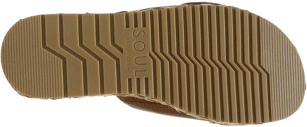 SOUL Naturalizer Women's Daybreak Slide Sandal, Toffee, 5