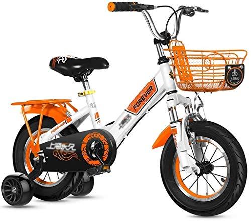 Xiaoyue Fahrräder Outdoor-Pedal Kinder Dreirad for Kinder Mountainbike Nizza Fahrrad Geeignet for Jungen und Mädchen (Farbe: Rot, Größe: 14inches) lalay (Color : Orange, Size : 12inches)