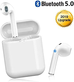 Bluetooth Headset Wireless Headset 5.0 in-Ear Headphones for iOS/Android Wireless Stereo Headphones. (W)