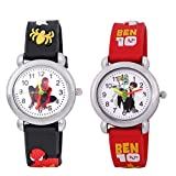 Dial Color: Multi-Color; Item Shape: Round Band Material: Rubber, Band color: Multi-Color Watch movement type: Quartz, Watch display type: Analog Suitable For-Kids/ Boys/ Girl's/ Childrens Works on Japanese Quartz format