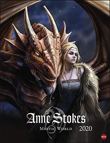 Anne Stokes Mystic World Posterkalender. Wandkalender 2020. Monatskalendarium. Spiralbindung. Format 34 x 44 cm